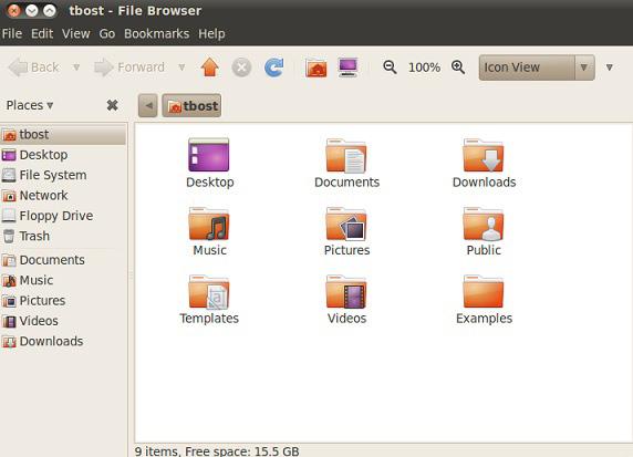 Nautilus 文件浏览器屏幕截图