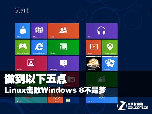 做到以下五点 Linux击败Windows 8不是梦
