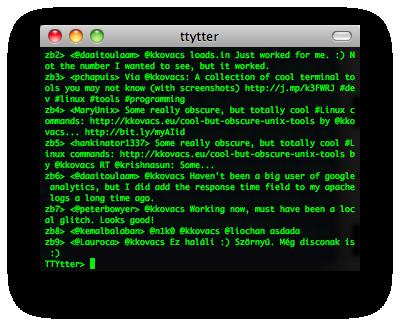ttytter screenshot
