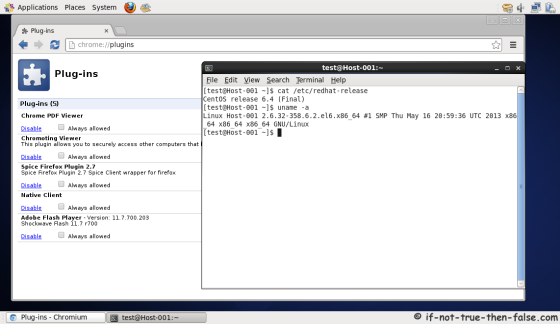 Chromium running on CentOS 6.4 with Pepper Flash Plugin and Chrome PDF Viewer Plugin