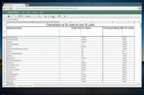 谷歌利用了去年收购QuickOffice的技术