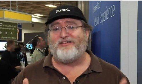 Valve公司创始人兼CEO加布·纽维尔(腾讯科技配图)
