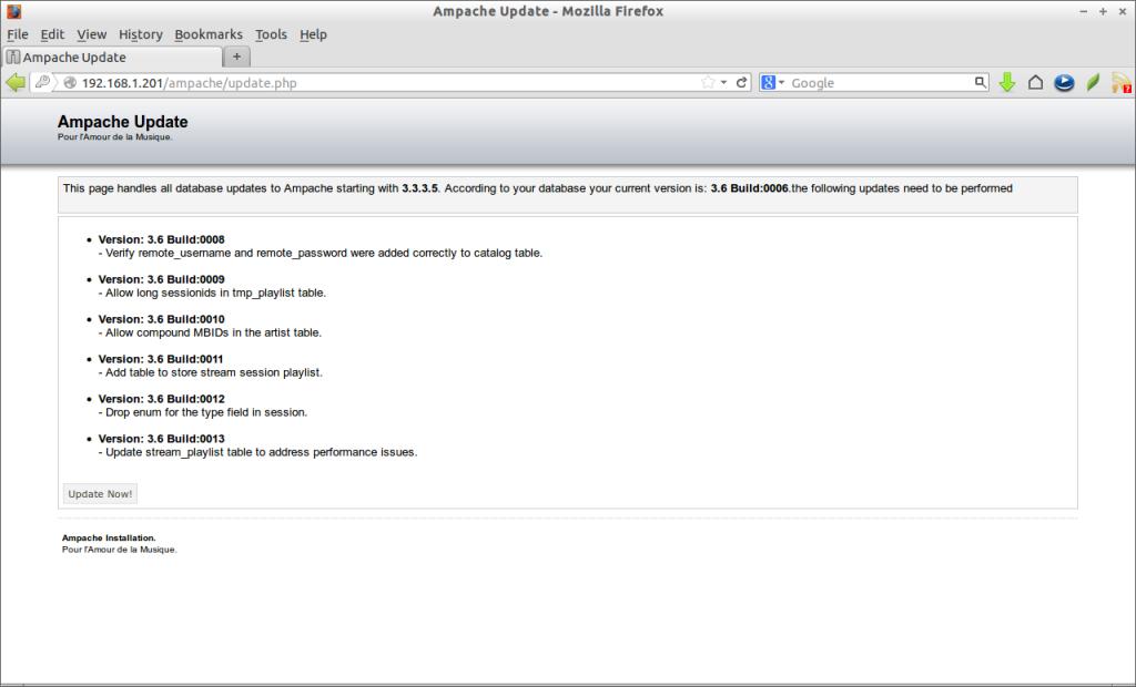 Ampache Update - Mozilla Firefox_010