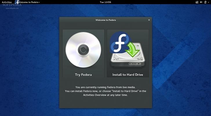 Fedora 20 Alpha GNOME Live DVD