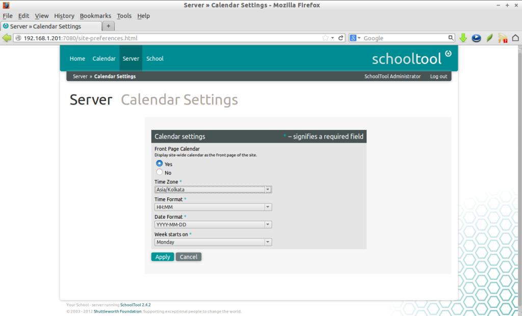 Server » Calendar Settings - Mozilla Firefox_009