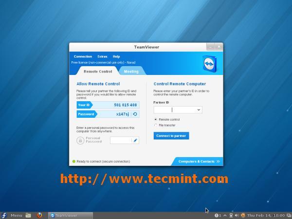 Running TeamViewer in Fedora 18