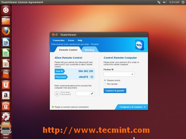 TeamViewer 9 Under Ubuntu 13.10