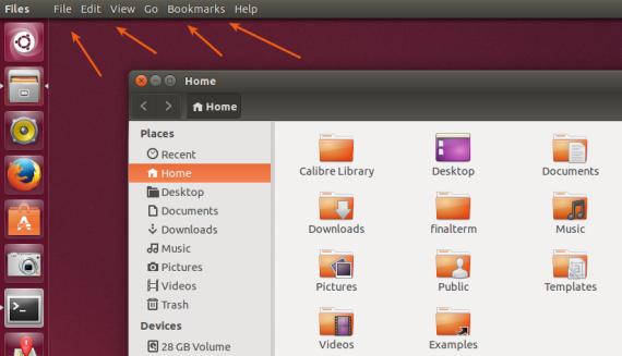 nautilus standard appmenu ubuntu 14.04