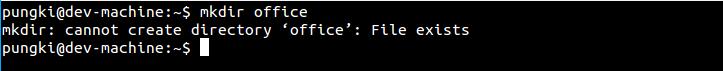 mkdir directory exist