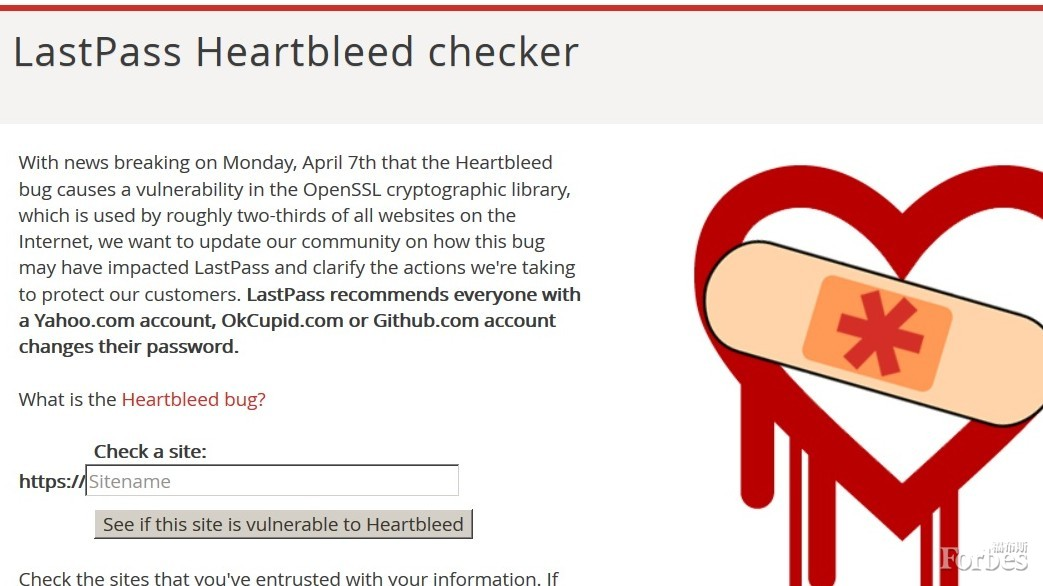 如何查看你使用的网站是否容易受到Heartbleed漏洞攻击。