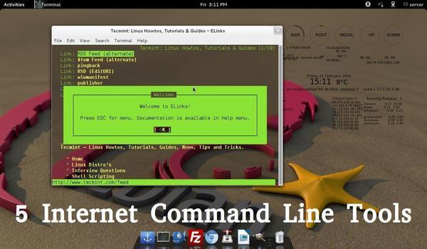 5 Command Line Internet Tools