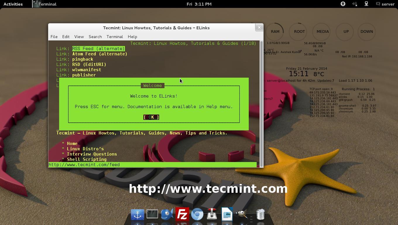 Elinks Command Line Web Browsing
