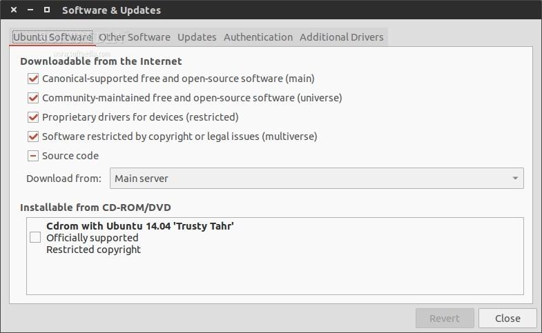 Software & Updates repositories