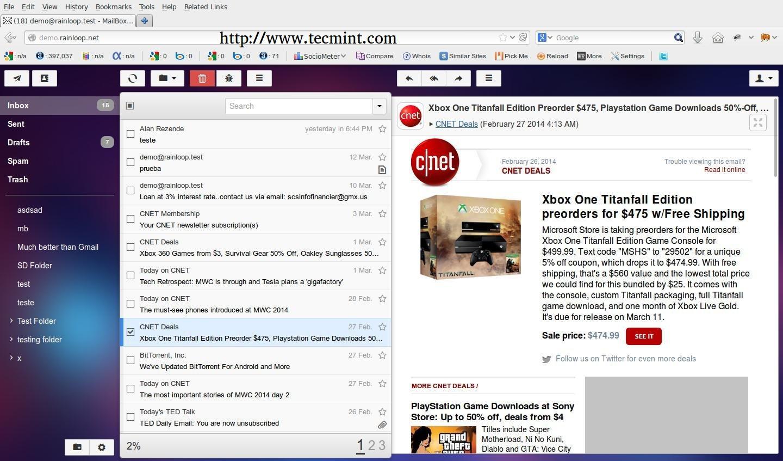 在Arch Linux上安装RainLoop