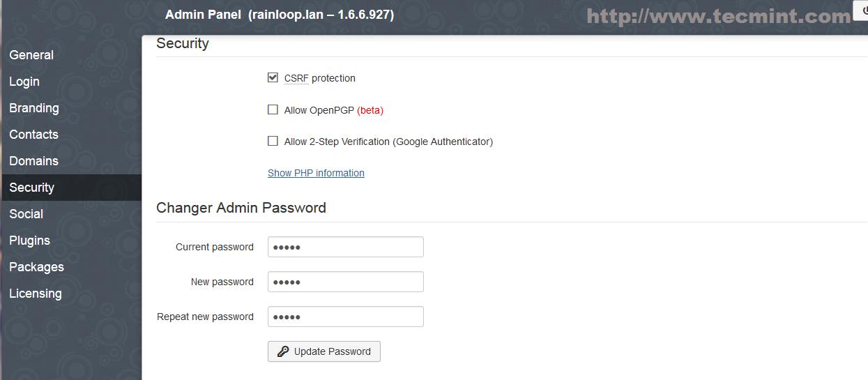 Set New Admin Password