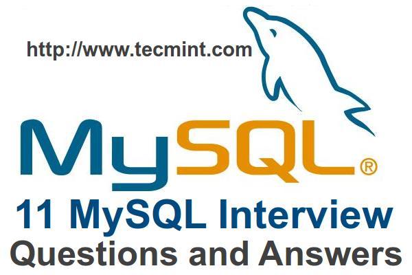11个MySQL面试问题