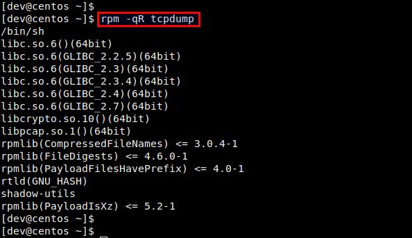 教你如何在Fedora,CentOS,RHEL中检查RPM包的依赖性