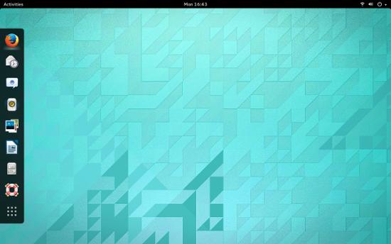 图 2: Dash to Dock adds a dock to GNOME 3.