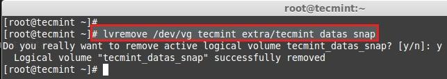 Remove LVM Snapshot