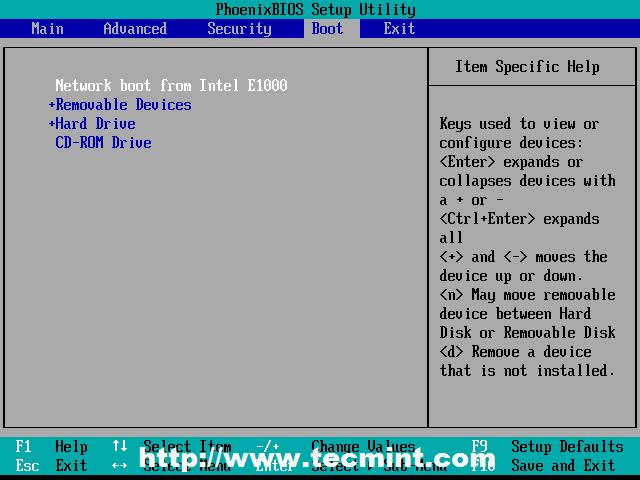 Select BIOS Settings