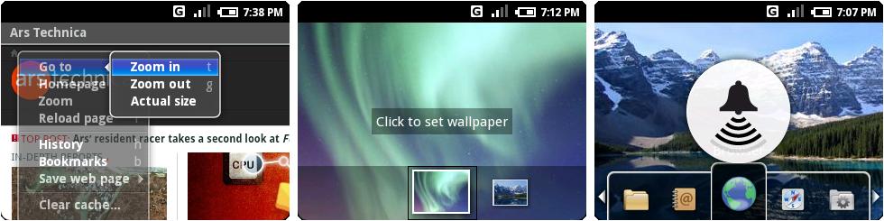 Milestone 3的浏览器菜单系统,壁纸界面,以及音量控制。