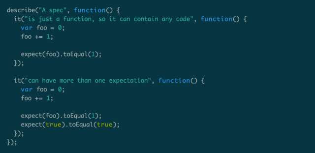 Jasmine示例代码