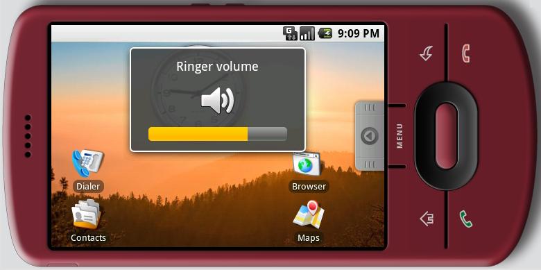 安卓0.9显示着横屏的主屏幕——后续一些版本无法实现的一个特性。