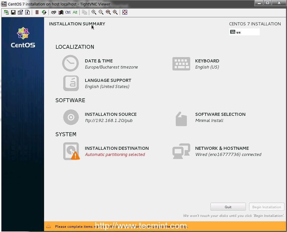 Remote Installation of CentOS