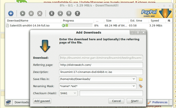 There are actually a whole lot of options available for DownThemAll! that make it very flexible