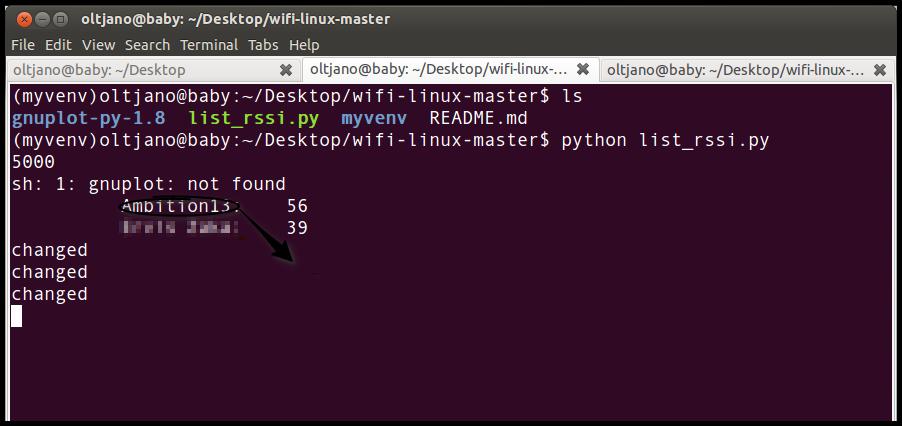 wifi-linux to monitor wifi signal strength
