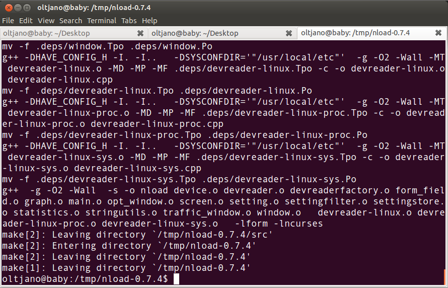 compiling nload
