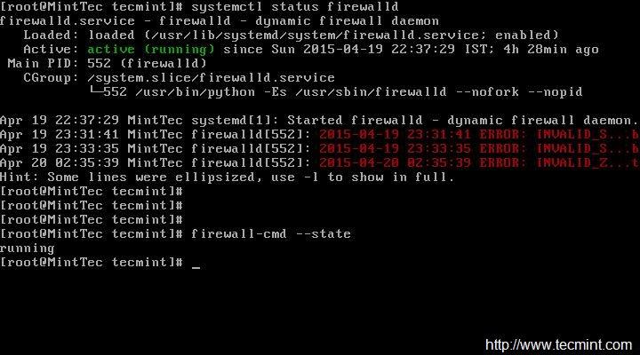 检查 Firewalld 状态