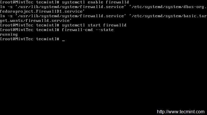 在 CentOS 7 中取消 Firewalld