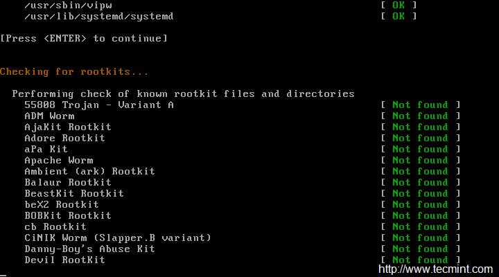 RootKit 扫描结果