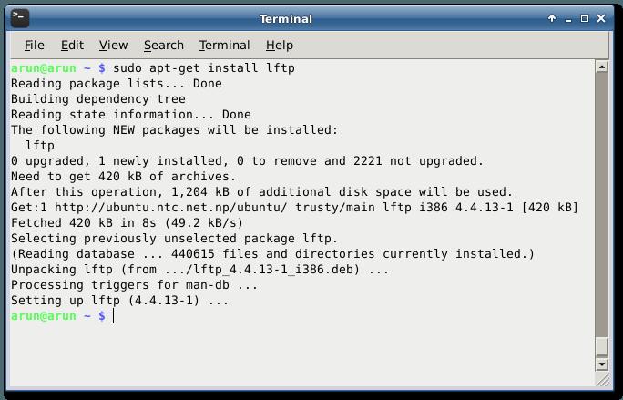 ubuntu install lftp