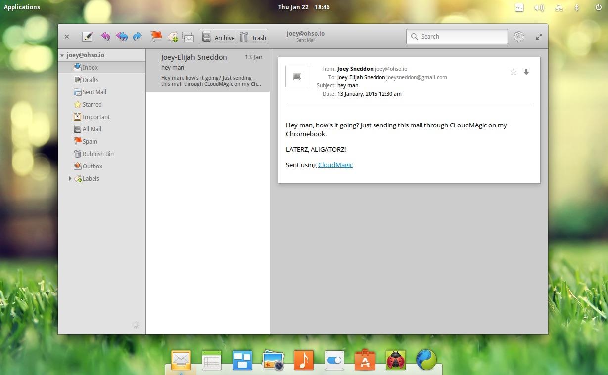 elementary OS上运行的旧版本的Geary