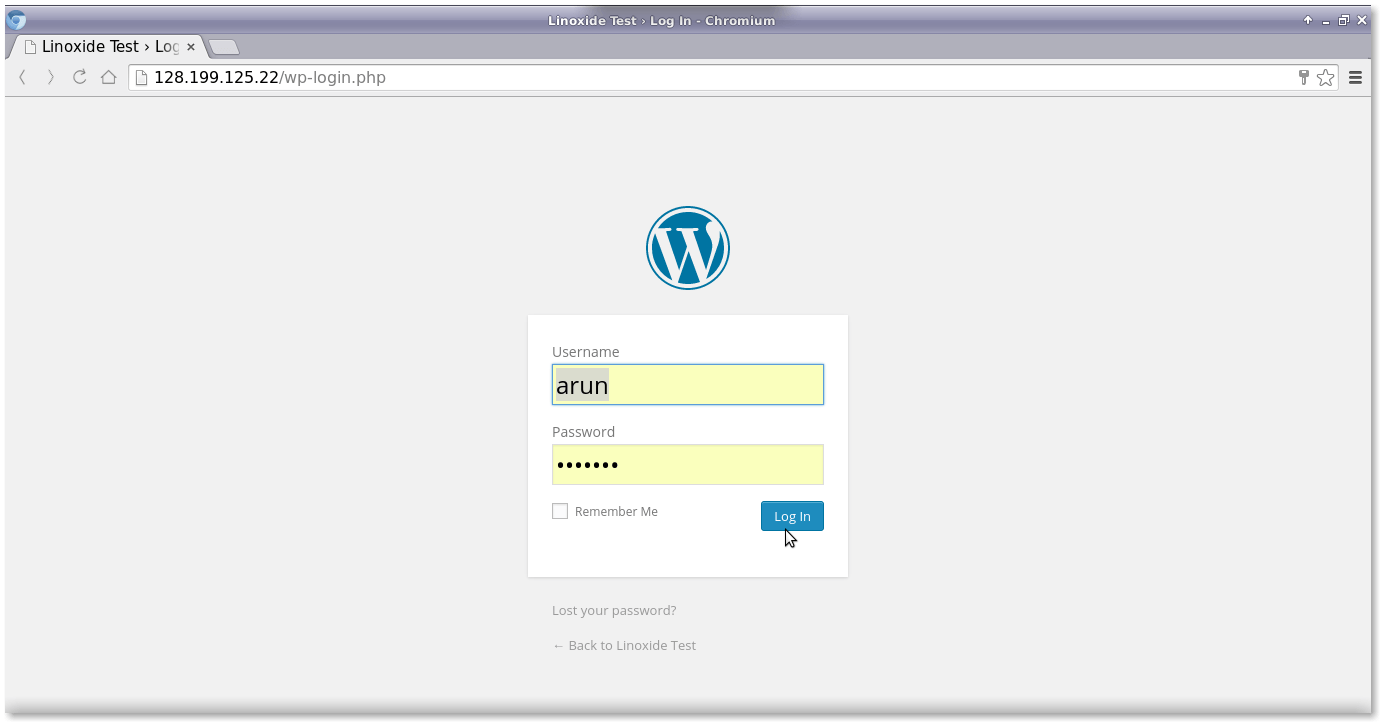 wordpress 登录