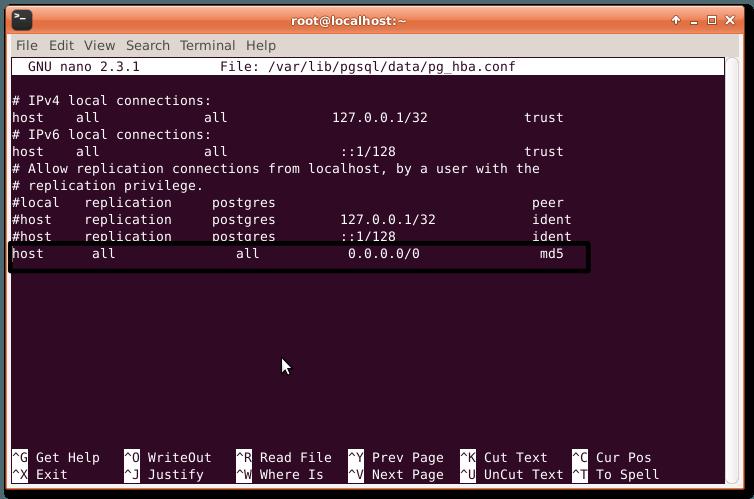 Allowing Remote Access pgsql