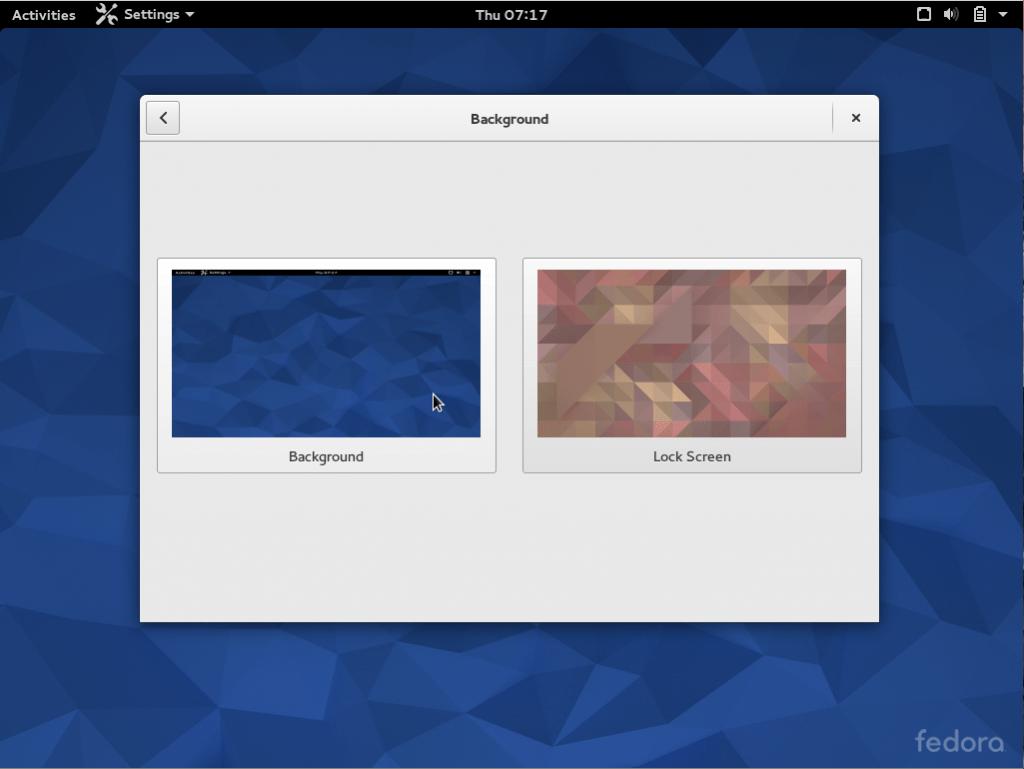 Desktop or lock screen