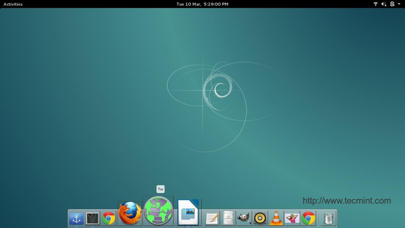 在桌面添加Tor快捷方式
