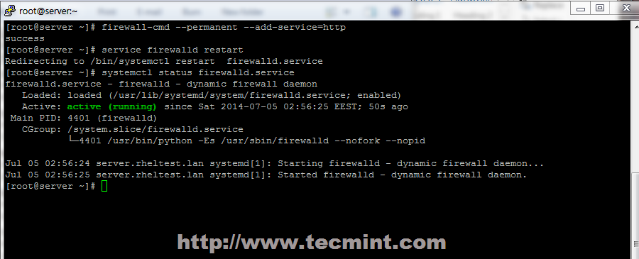 Enable Firewall in CentOS 7
