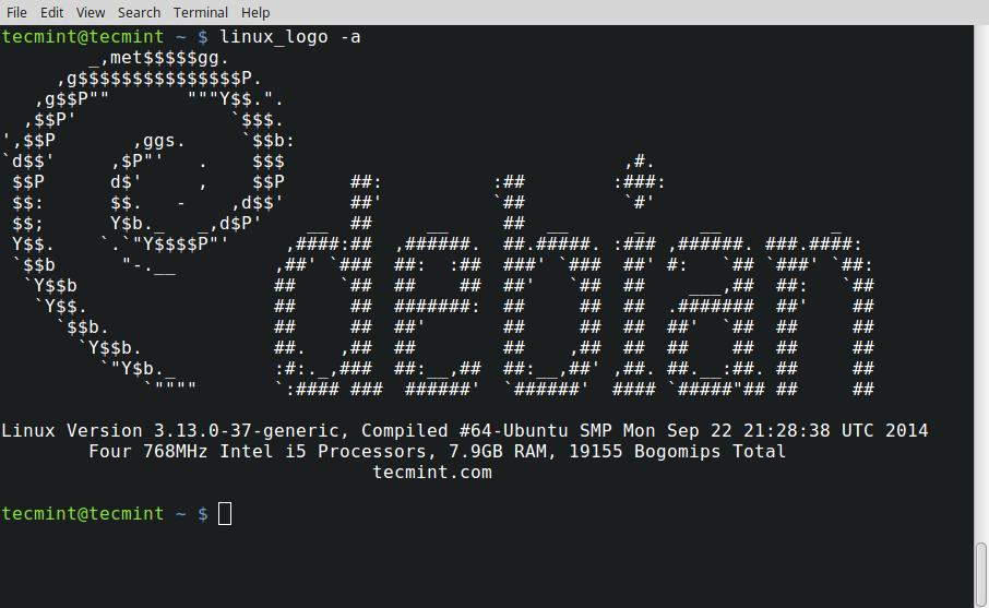 黑白 Linux 徽标