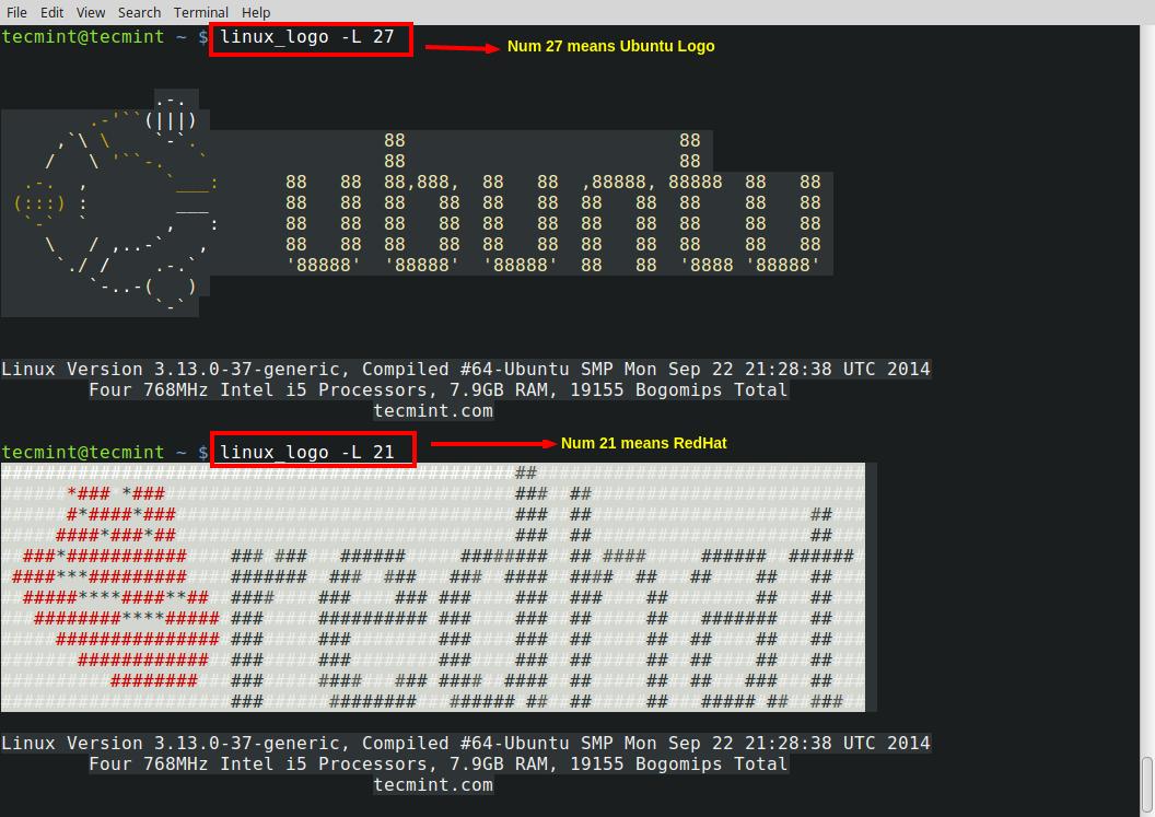 各种 Linux 徽标