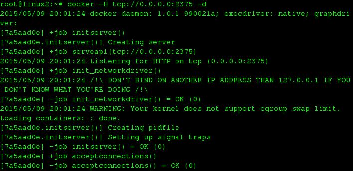 Starting Docker Daemon