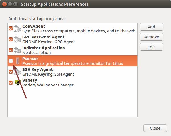 在 Ubuntu 中移除开机启动程序