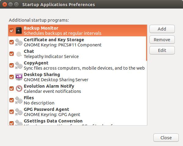 在 Ubuntu 中查看隐藏的开机启动程序