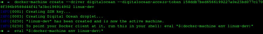 Docker Machine Digitalocean Cloud