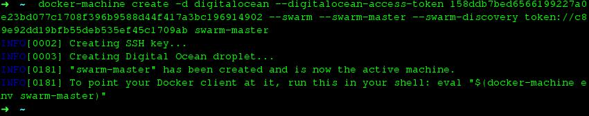 Docker Machine Swarm Master Create