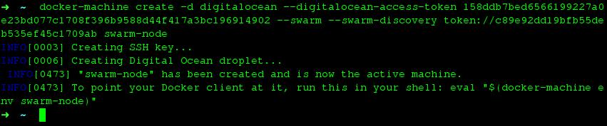 Docker Machine Swarm Nodes