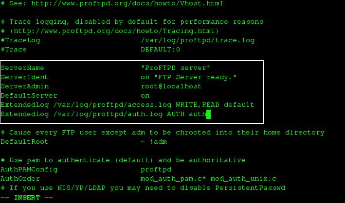 调整 ProFTPD 设置
